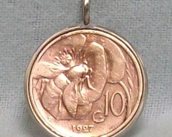 Italy Coin Pendant (E-942)