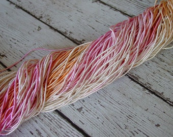 NeW Hand Dyed SHERBET cord, 6 yards