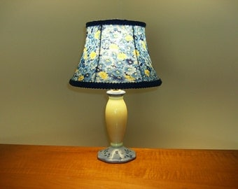 Blue and Yellow Accent Lamp