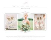Squarespace Template - Photography Website Design - Photoshop Templates - DIY Website Branding - W0002