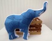 Elephant Pillow Plush Soft Toy Safari Nursery Decor Ready to Ship