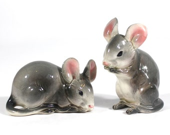 Mouse Salt & Pepper Shakers - Ceramic