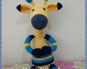 Yellow Giraffe Amigurumi Crochet Doll Handmade