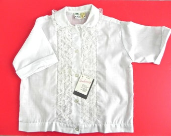 Vintage 60s Girls Lace Top NWT