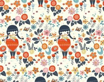 Birch Fabrics - Wild Land Collection - Windsong in Cream Organic