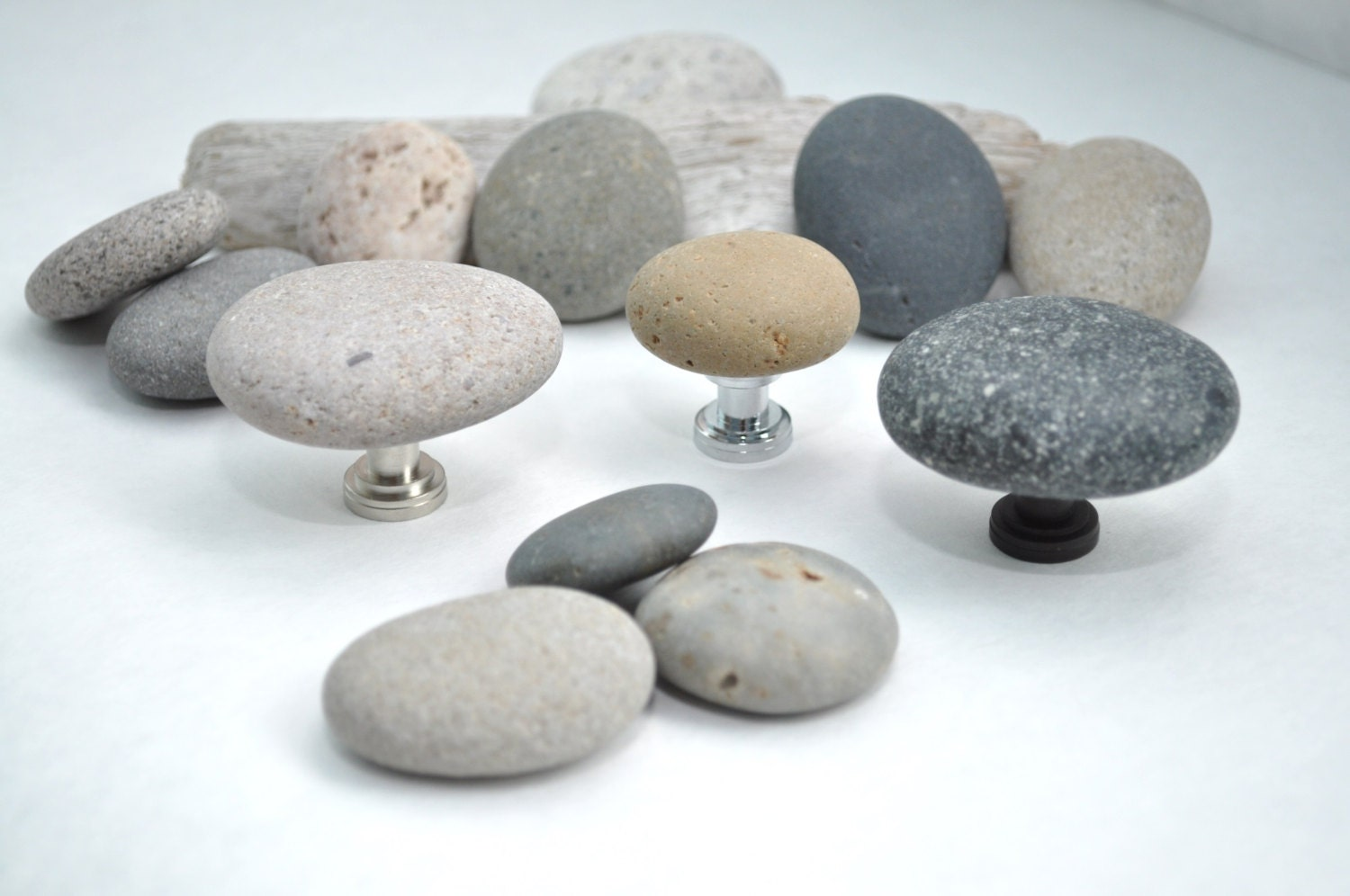 Beach And River Rock Cabinet Knobs Pulls Contact Me Directly