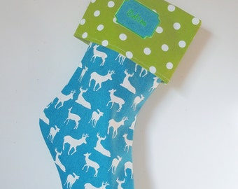Jumbo Christmas Stockings, 2 foot long, custom holiday stockings, christmas decorations, polka dots, chevrons, matching family stockings