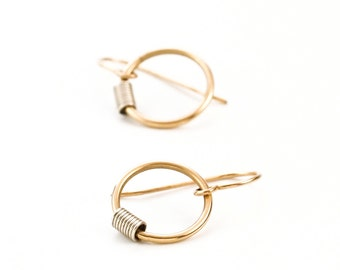 That's a Wrap Earrings in 14kt Gold Filled with Argentium Sterling Silver