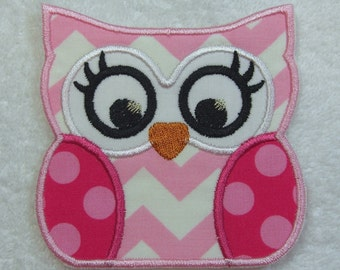 Owl Patch Fabric Embroidered Iron On Applique Patch Ready to Ship