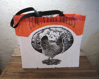 Reusable Chicken Feed Extra Large Market Tote Bag Purse