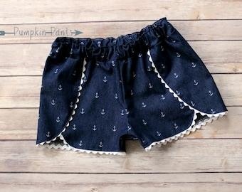 Anchors Away Denim Shorts