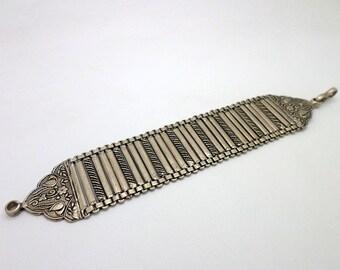 Vintage Style Sterling Silver Slinky Link Bracelet