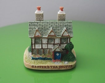 Charming British House Miniature Tudor Reminiscient Style Gaffer's Tea Shoppe