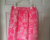 Handmade skirt with Lilly Pulitzer fabric Rule Breakers, Tusk in Sun, Lilly's Lagoon, First Impressions, Oh Shello, Peel and Eat and more