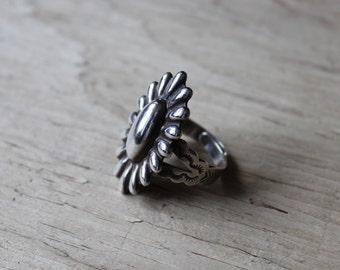 Vintage Sterling Silver Ring, Vintage Ring, Sterling Silver Ring, Adjustable Ring, Size 6 7 8 9
