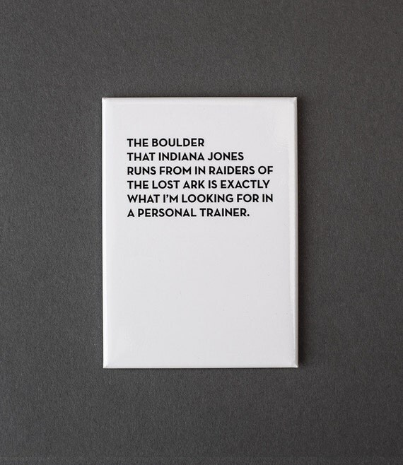 personal trainer magnet. #952