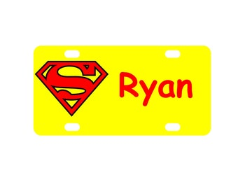 Superman Personalized Mini License Plate Bike Plate ATV Plate