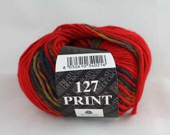 100% Wool Print 127 Filatura di Crosa 50 g basic price 76,20 euro/1kg