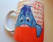 Tigger mug/Eyeore mug/Disney collectors mug/Eyeore/Tigger/Pooh Bear/A A Milne/coffee lover/mug lover/hot chocolate lover/cup/Disney cup