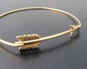 Arrow Bracelet, Gold, Arrow Jewelry, Gold Bangle Bracelet, Gold Bracelet, Gold Jewelry, Arrow Bangle Bracelet