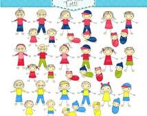 ON SALE stick figure clip art, stick figure family clip art, doodle clip art, Stick Figures Clip Art, instant download clip art