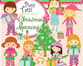 ON SALE! clipart christmas girl  - girl Digital clipart, christmas girls clip art