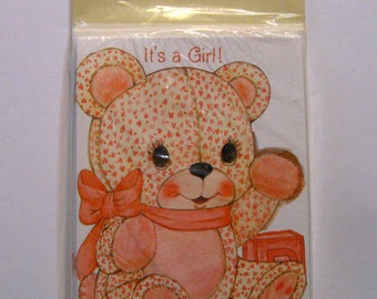 It's A Girl Birth Announcement Baby Girl Announcements, Cards, Greeting Cards, Paper, Birth Announcements