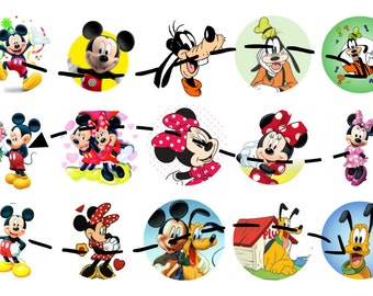 Mickey and Friends 1 inch circles