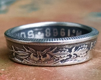 Coin Ring - 1968 Mexican Cinquenta Centavos Coin Ring - Mexico Coin Ring - Size: 8