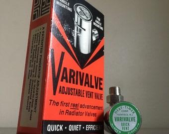 Vintage Varivalve Steam Valve. Heat-Timer Corporation. Fairfield, NJ.