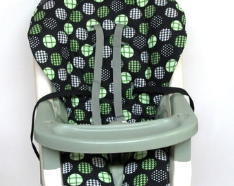 high chair pad,Graco cover baby accessory, replacement cover, nursery decor, high chair cushion, kids and baby, feeding chair, kiwi on black