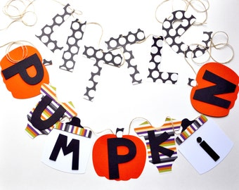 NEW Halloween Little Pumpkin banner baby shower decorations Larger Size  by ParkersPrints on Etsy