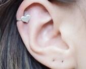 Sterling Silver Small Heart Ear Cuff