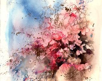 Watercolor - Original watercolour - Colors spray