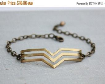 SALE Modern Chevron Bracelet. Geometric Jewelry