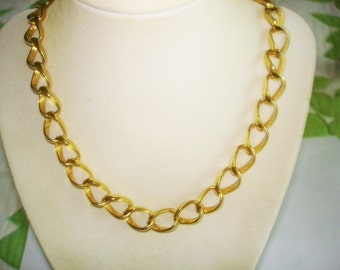 Chain Link Necklace Gold Tone