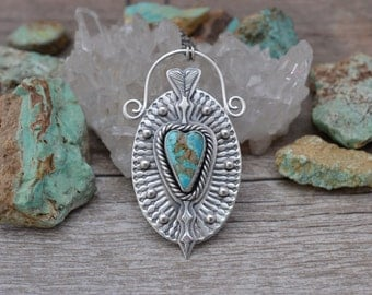 The Sacred Heart of Eros II Handmade in Sterling Silver and Turquoise