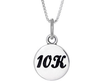 10K Running Charm Necklace- Gift for a Runner