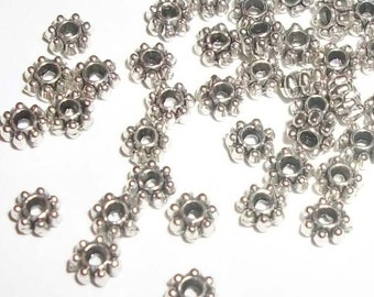 Antique silver pewter 4x2mm double sided rondelle spacer beads -- 250 pieces  (M9011)