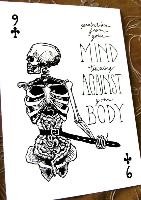Mind Against Body Postcard * Portable Fortitude