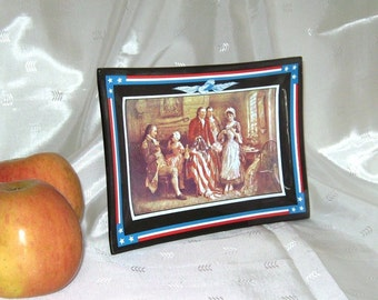 Americana Collectible Advertising Plate, The Birth of Old Glory