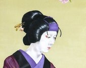 Early Spring - by Victor Bosson, Japanese, kabuki, folk tale, art print