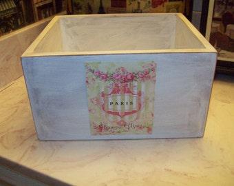 White Paris storage box, Organizer box,PARIS decor,French decor,Paris bathroom decor,Paris bedroom decor,French bedroom