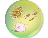 Pork and Beans plate - melamine - personalized