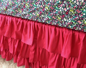 Ritzy Baby Made to Order Hot Pink 3 or 4-Sided Ruffled Crib Skirt