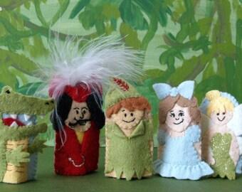 Peter Pan Finger Puppet Set