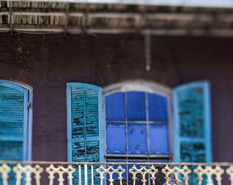 New Orleans Architecture Photography, French Quarter Fine Art Print, New Orleans Wall Art, Home Decor, Balcony, Louisiana Home Decor