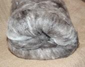 Shetland Sheep, Alpaca and Angora -- Spinning Batt -- Fiber Batt -- Midwest Fibers -- Black Batt -- Large Batt
