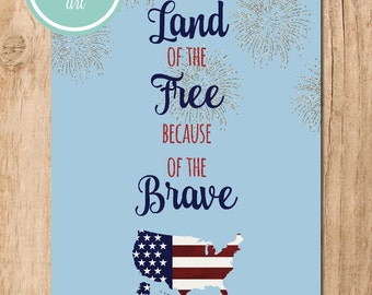 Land of the Free Printable Art