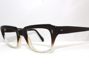 1950s Eyeglasses // 50s60s  Optical Eyeglass frames  // Fade out Wayfarer style/ rh244